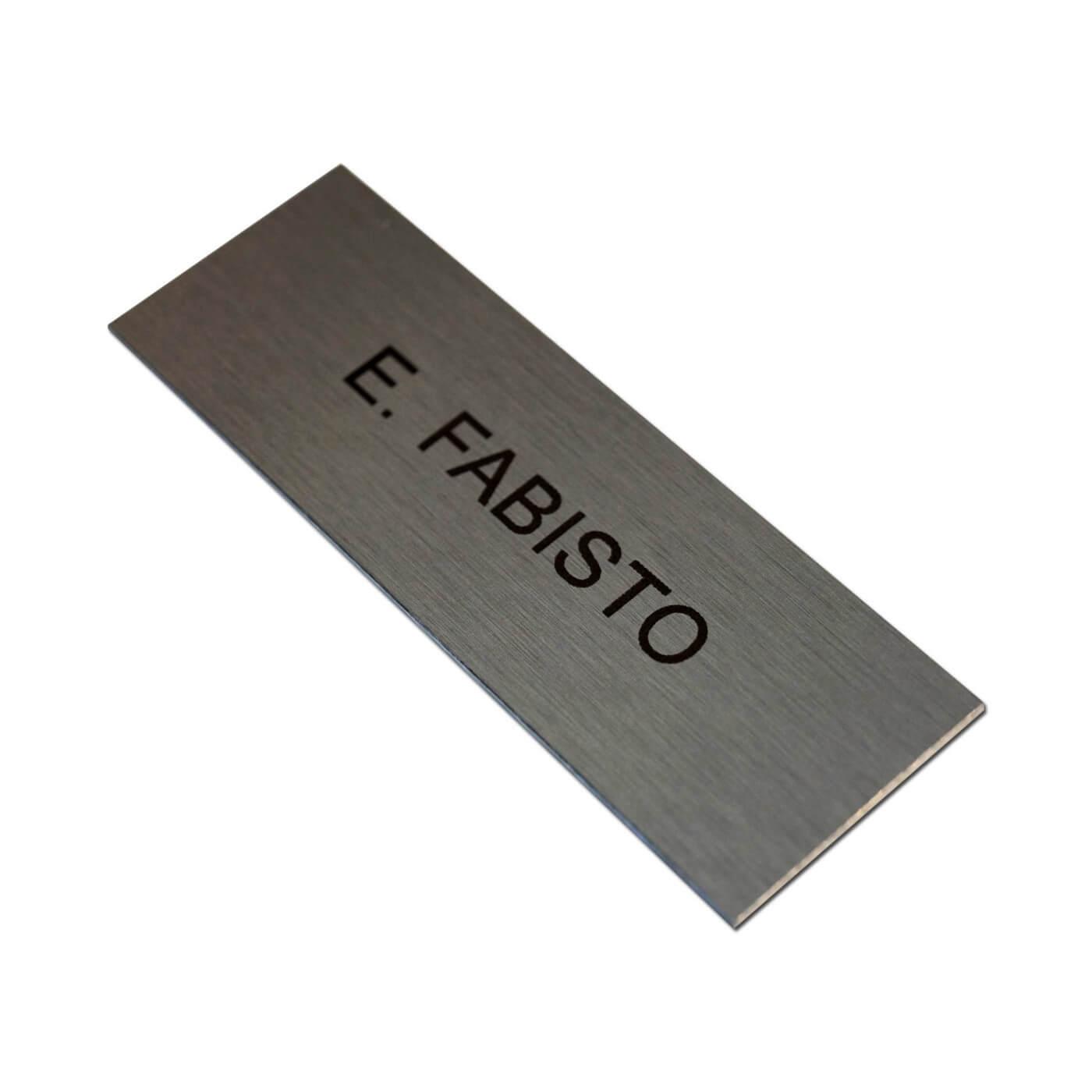plaque aluminium 10 x 2 5 cm grav e signal tique. Black Bedroom Furniture Sets. Home Design Ideas