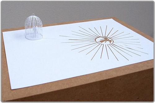 Le papier comme support d oeuvres art en papercut fabisto