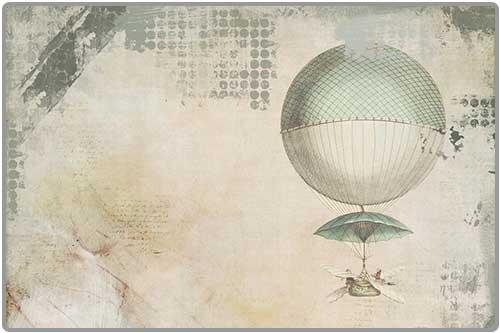 Illustration ancienne montgolfière
