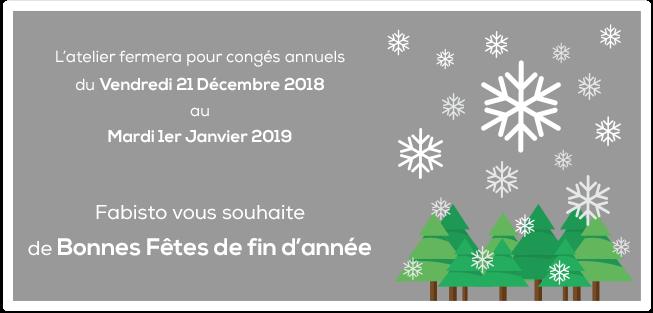 Annonce congés Noël 2018