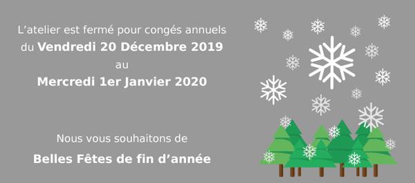 Visuel annonce congés annuels Noël 2019