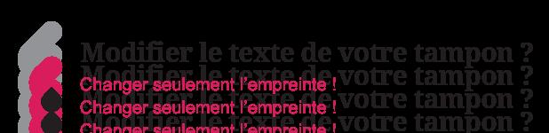 Illustration pour le remplacement du texte seul du tampon