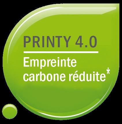 Logo empreinte carbone réduite pour les tampons Trodat Printy