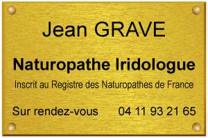 Image d'exemple de plaque de naturopathe