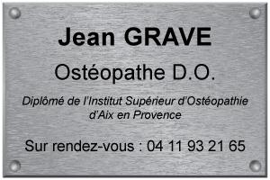 Exemple de plaque d'ostéopathe