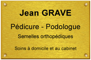 Exemple en image d'une plaque de pédicure podologue