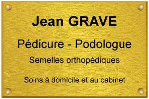 Exemple en image d'une plaque de pédicure podologue