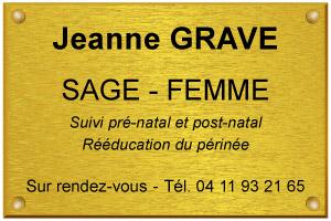 Photo d'un exemple de plaque de sage femme installée en libéral
