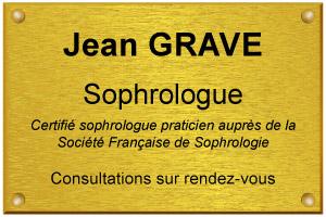 Image d'exemple de plaque de sophrologue certifié
