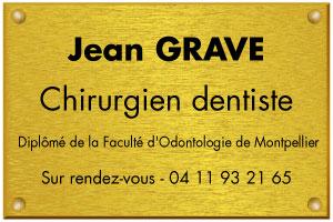 Modèle de plaque professionnelle pour un chirurgien dentiste