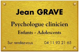 Modèle de plaque de psychologue clinicien en aluminium or