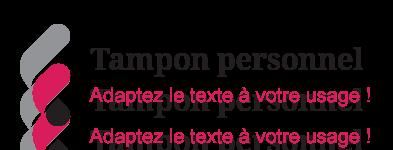 Illustration sur le texte à mettre sur un tampon personnel