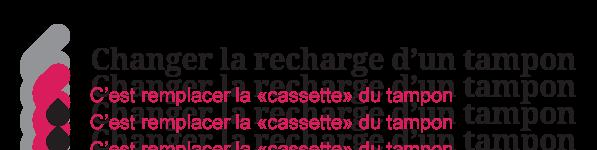 Illustration sur le changement de la recharge d'un tampon