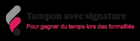 Image sur les tampons avec signature en entreprise